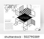 geometric background template... | Shutterstock .eps vector #502790389