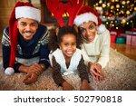 happy smiling african american... | Shutterstock . vector #502790818