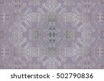 mandala  amulet. round vintage... | Shutterstock .eps vector #502790836