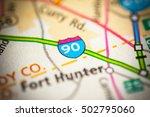 interstate 90. new york  state ....   Shutterstock . vector #502795060