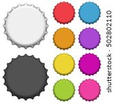 colorful bottle caps. vector... | Shutterstock .eps vector #502802110
