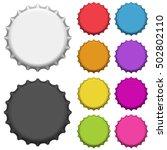 colorful bottle caps. vector... | Shutterstock .eps vector #502802110