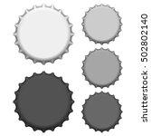 bottle caps. vector illustration | Shutterstock .eps vector #502802140