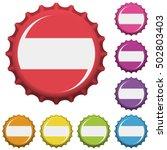 colorful bottle caps. vector...   Shutterstock .eps vector #502803403