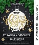 vector christmas party poster... | Shutterstock .eps vector #502804048