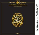 web line icon. human brain | Shutterstock .eps vector #502804369