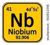periodic table element niobium... | Shutterstock .eps vector #502811548