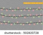 garlands  christmas decorations ... | Shutterstock .eps vector #502820728