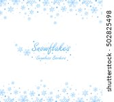 seamless winter borders with... | Shutterstock .eps vector #502825498