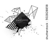 geometric background template... | Shutterstock .eps vector #502828858
