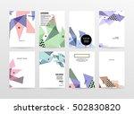 geometric background template... | Shutterstock .eps vector #502830820