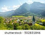 landscape view on balzers... | Shutterstock . vector #502831846
