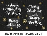 christmas and happy new year... | Shutterstock .eps vector #502832524