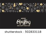 merry christmas and happy new... | Shutterstock .eps vector #502833118
