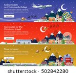 new year's travel banners in... | Shutterstock .eps vector #502842280