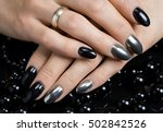 beautiful female hands with... | Shutterstock . vector #502842526