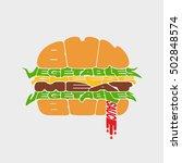 hamburger icon. hamburger fast... | Shutterstock .eps vector #502848574