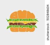 hamburger icon. hamburger fast...   Shutterstock .eps vector #502848604