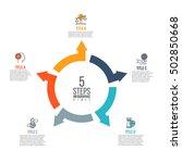 vector arrows infographic.... | Shutterstock .eps vector #502850668