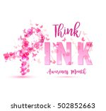 breast cancer awareness concept ... | Shutterstock .eps vector #502852663