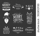 elegant calligraphy christmas...   Shutterstock .eps vector #502852930