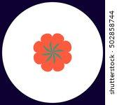 swirl flower simple vector...