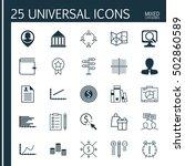 set of 25 universal editable... | Shutterstock .eps vector #502860589