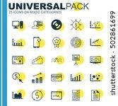 set of 25 universal editable...   Shutterstock .eps vector #502861699