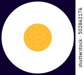 full moon simple vector button. ...