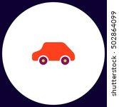 toy car simple vector button....