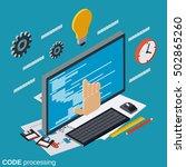 code processing  program coding ... | Shutterstock .eps vector #502865260