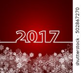 christmas background. new year... | Shutterstock .eps vector #502867270