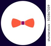 bow tie simple vector button....