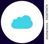 cloud simple vector button....