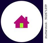 home simple vector button....