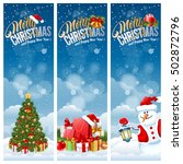 christmas banners with... | Shutterstock .eps vector #502872796