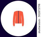 jacket simple vector button....