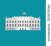 white house america. residence... | Shutterstock .eps vector #502879264