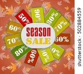 autumn sale banner. vector... | Shutterstock .eps vector #502884559