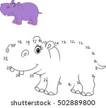 connect the number to draw the... | Shutterstock .eps vector #502889800