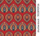 ethnic geometrical pattern ... | Shutterstock .eps vector #502890916
