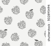 seamless pattern with stylized... | Shutterstock .eps vector #502895494
