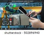 industrial 4.0   augmented... | Shutterstock . vector #502896940