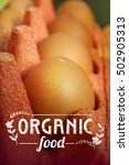 organic food template ... | Shutterstock . vector #502905313
