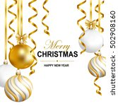 merry cristmas and happy new... | Shutterstock .eps vector #502908160