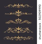 vector text dividers with gold... | Shutterstock .eps vector #502909990