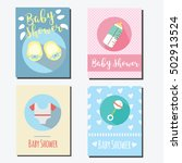 baby shower party cards ... | Shutterstock .eps vector #502913524