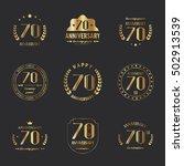 seventy years anniversary...   Shutterstock .eps vector #502913539