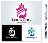 fashion queen logo design... | Shutterstock .eps vector #502918360