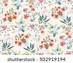seamless floral pattern in... | Shutterstock .eps vector #502919194